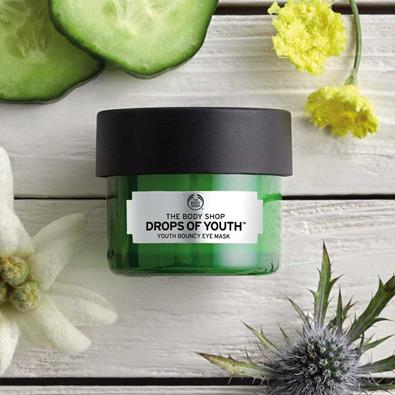 masque yeux the body shop drops of youth